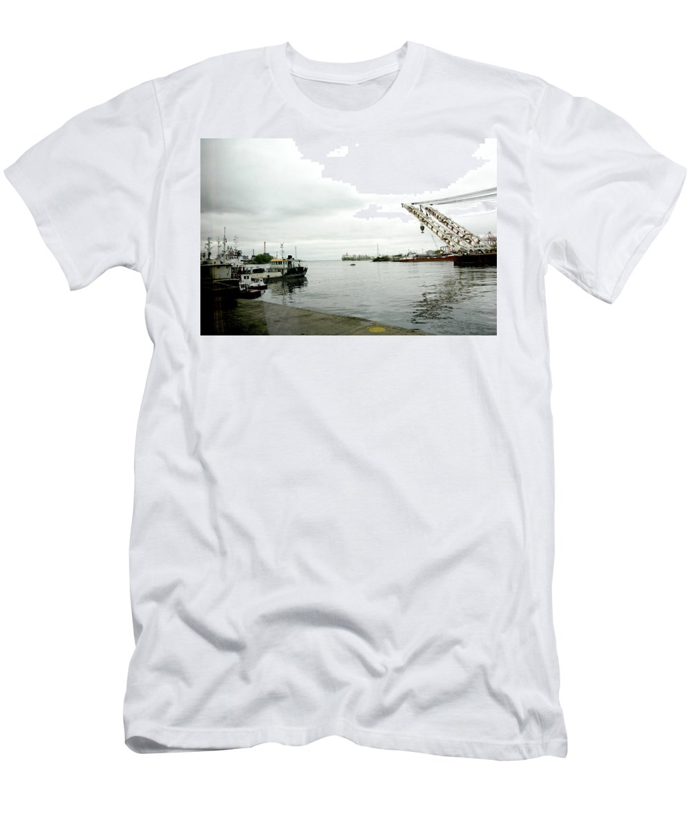 Waterfront Men's T-Shirt (Athletic Fit) featuring the photograph The Waterfront by Norman Johnson