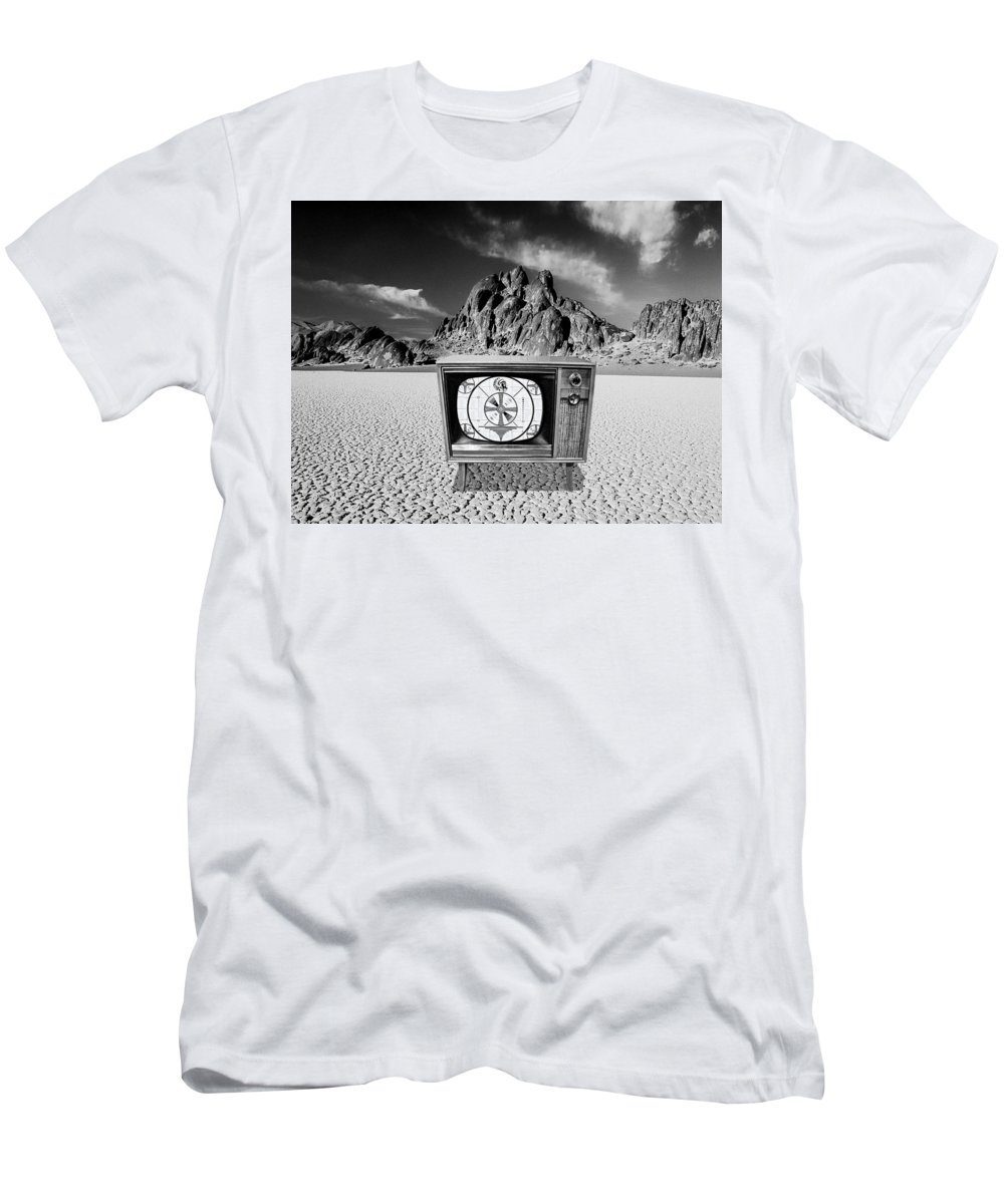 Only A Test Men's T-Shirt (Athletic Fit) featuring the photograph This Is Only A Test by Dominic Piperata