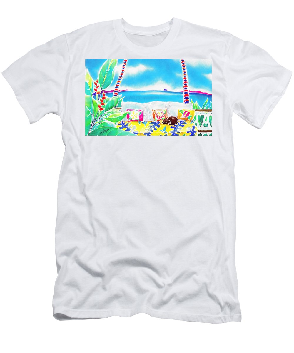 Tropical Men's T-Shirt (Athletic Fit) featuring the painting Time Stands Still by Hisayo Ohta