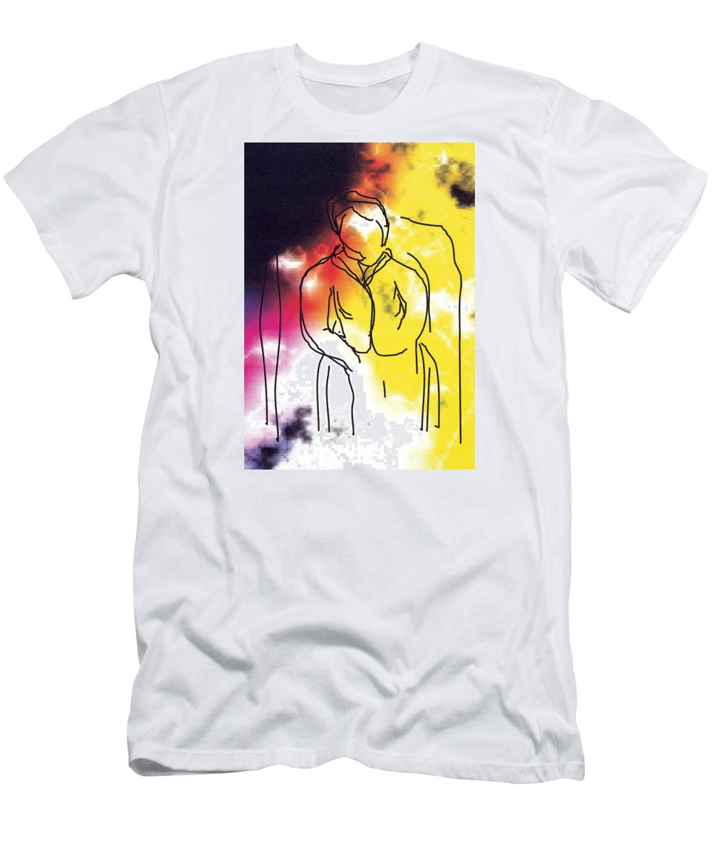 Together Men's T-Shirt (Athletic Fit) featuring the digital art Together by Bjorn Sjogren