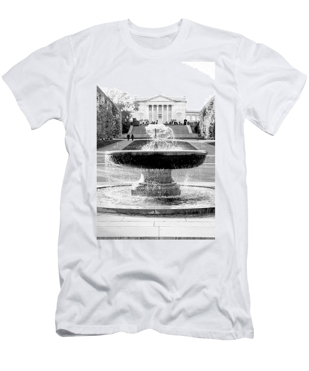 Arlington Cemetery Men's T-Shirt (Athletic Fit) featuring the photograph Tomb Of The Unknown by Greg Fortier