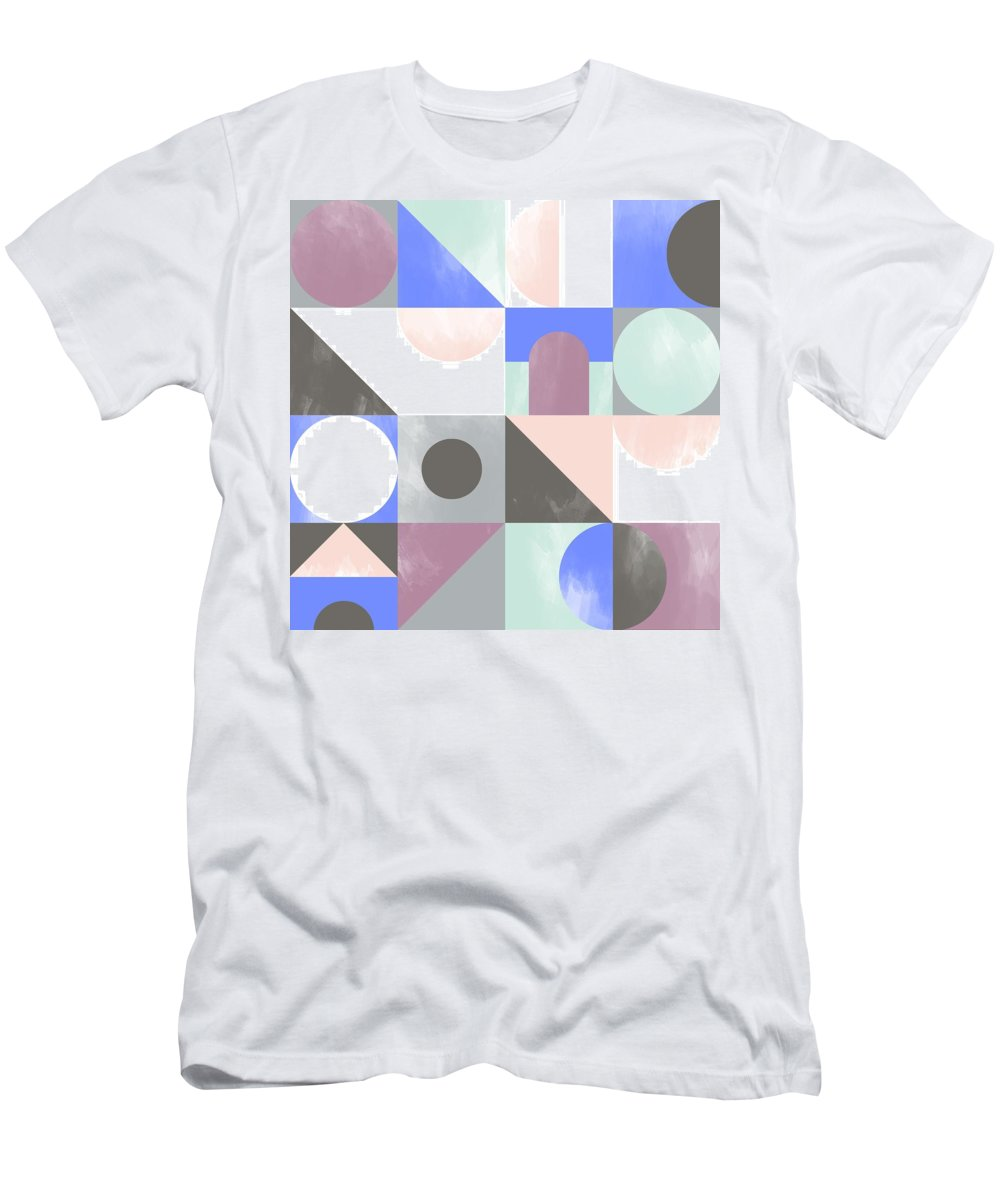 Pattern T-Shirt featuring the painting Toy Blocks by Laurence Lavallee