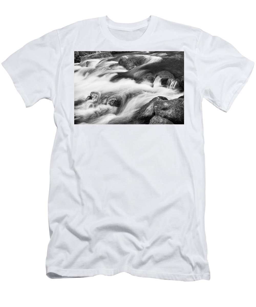 Tranquility Men's T-Shirt (Athletic Fit) featuring the photograph Tranquility In Black And White by James BO Insogna