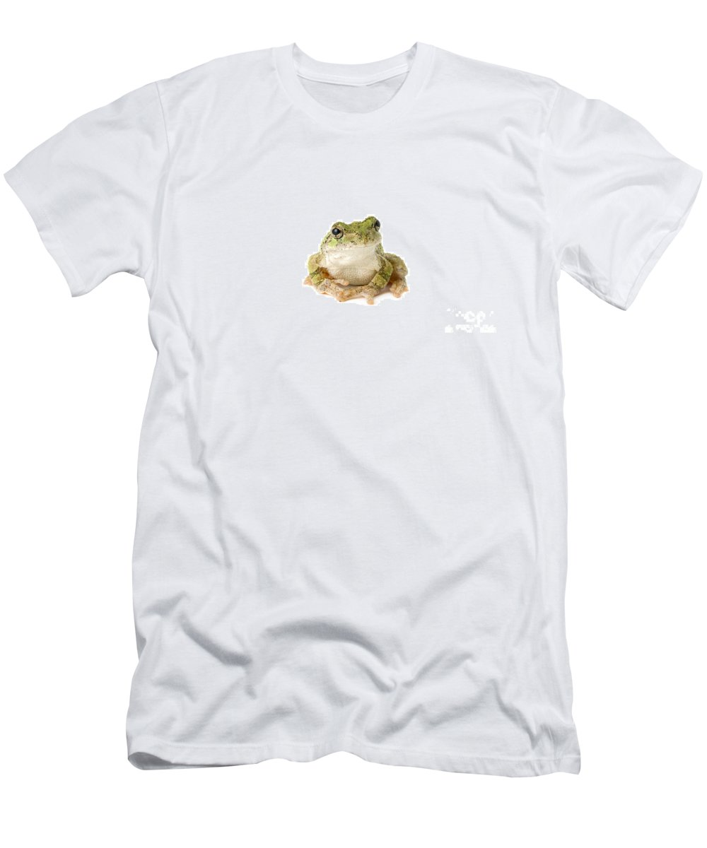 Amphibian Men's T-Shirt (Athletic Fit) featuring the photograph Tree Frog Pensive by SAJE Photography