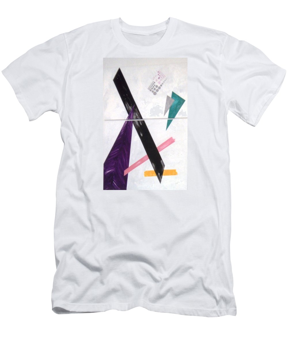 Abstract Men's T-Shirt (Athletic Fit) featuring the painting Trio by Graciela Castro