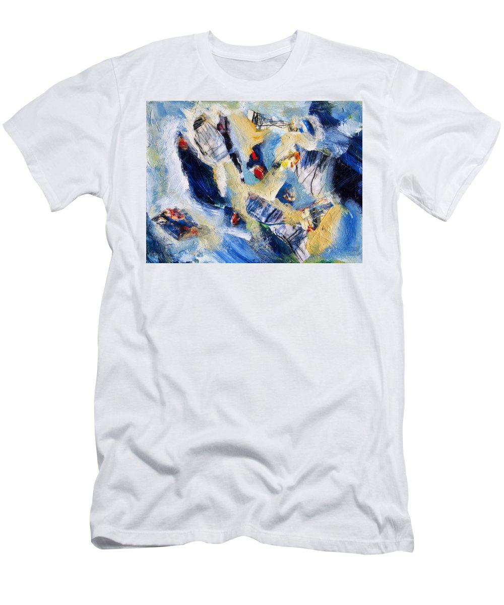 Abstract Men's T-Shirt (Athletic Fit) featuring the painting Tsunami 2 by Dominic Piperata
