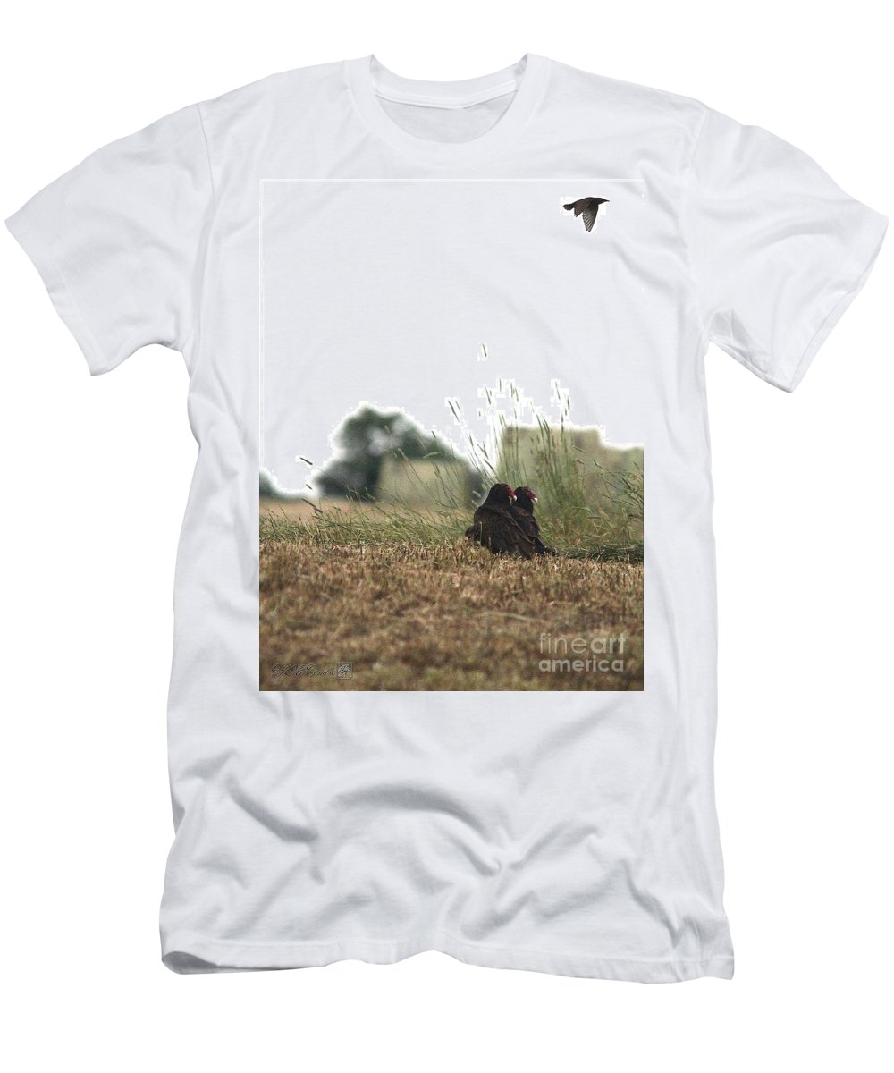 Mccombie Men's T-Shirt (Athletic Fit) featuring the painting Turkey Vultures by J McCombie