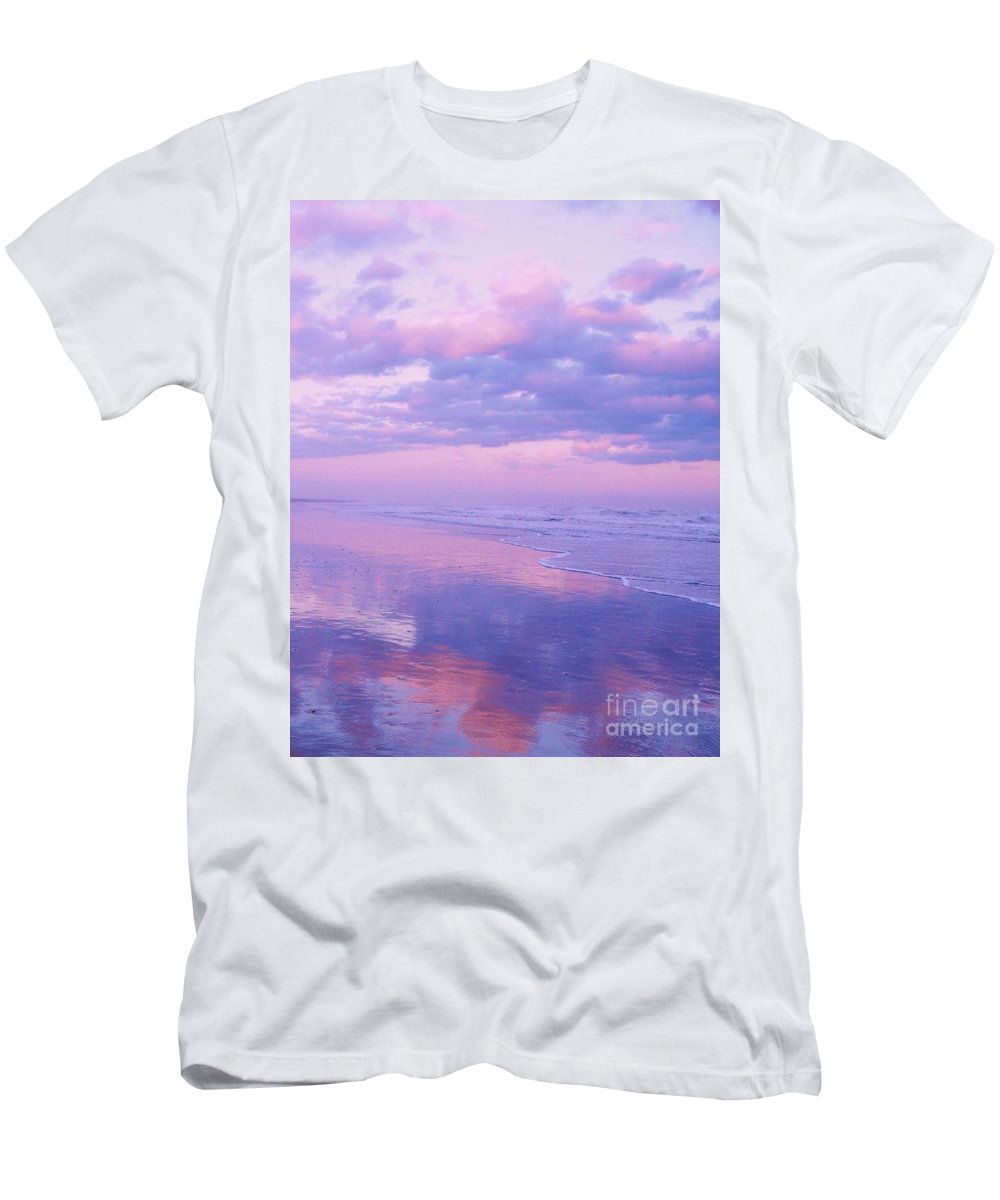 Twilight Men's T-Shirt (Athletic Fit) featuring the photograph Twilight Reflection Cape May by Eric Schiabor