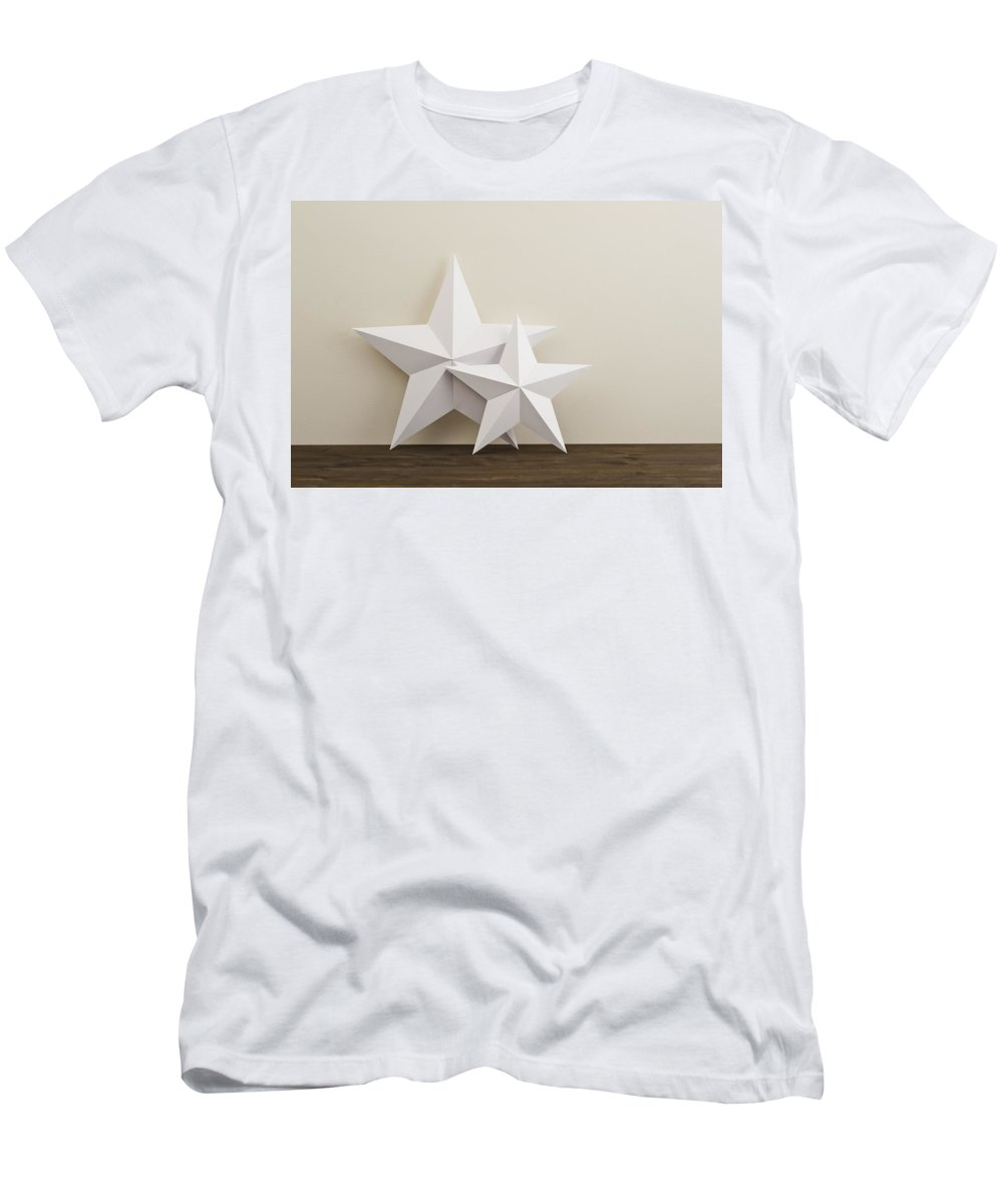 Advent Men's T-Shirt (Athletic Fit) featuring the photograph Two Stars by U Schade