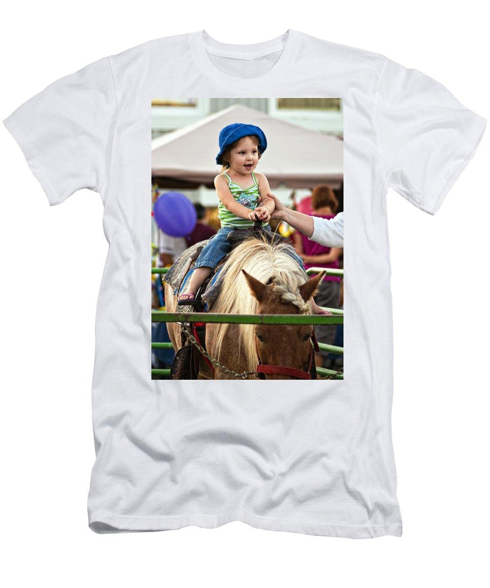 Joy Men's T-Shirt (Athletic Fit) featuring the photograph Unbridled Joy by Steve Harrington