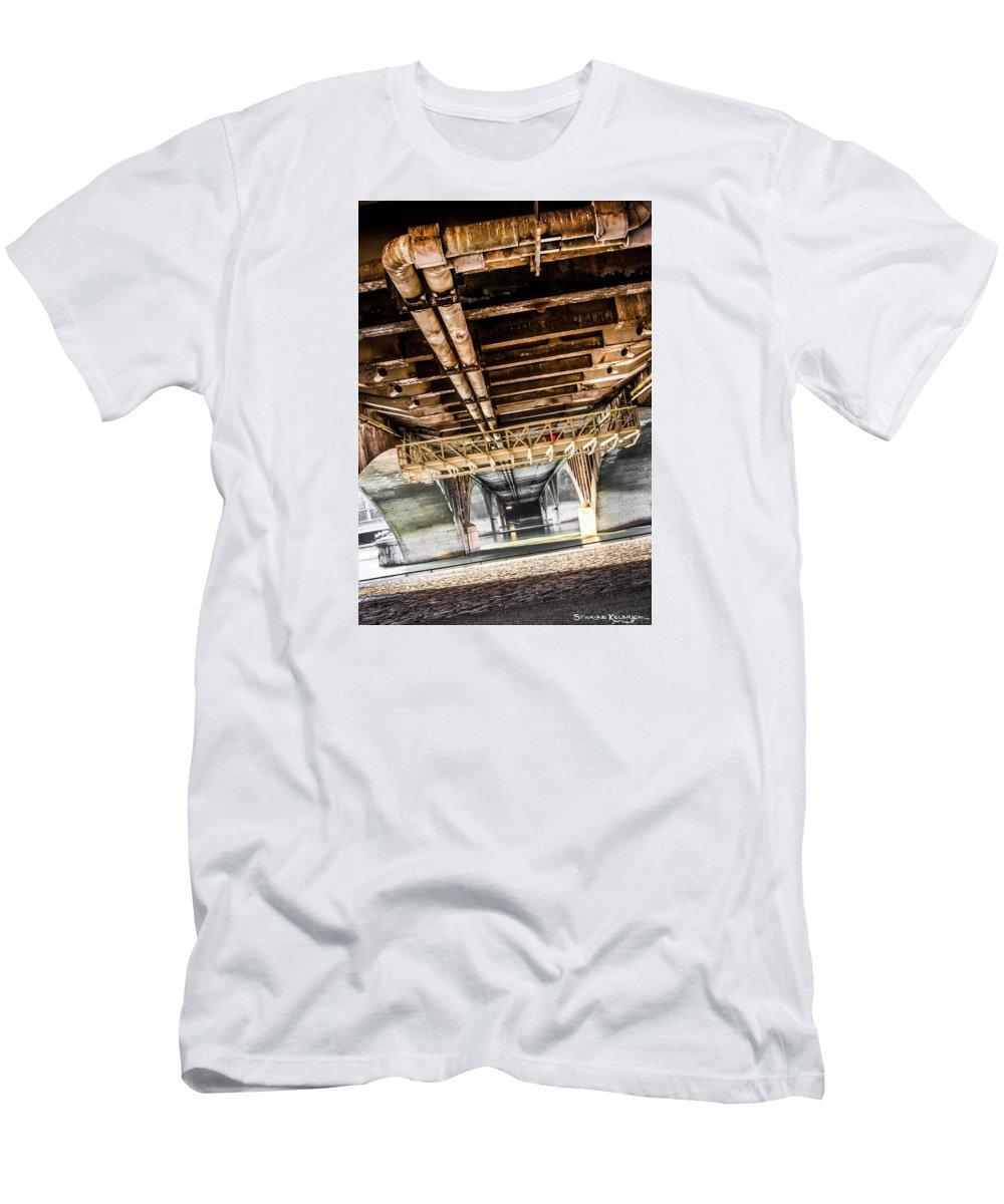 Fine Art Men's T-Shirt (Athletic Fit) featuring the photograph Under The Golden Bridge by Stwayne Keubrick