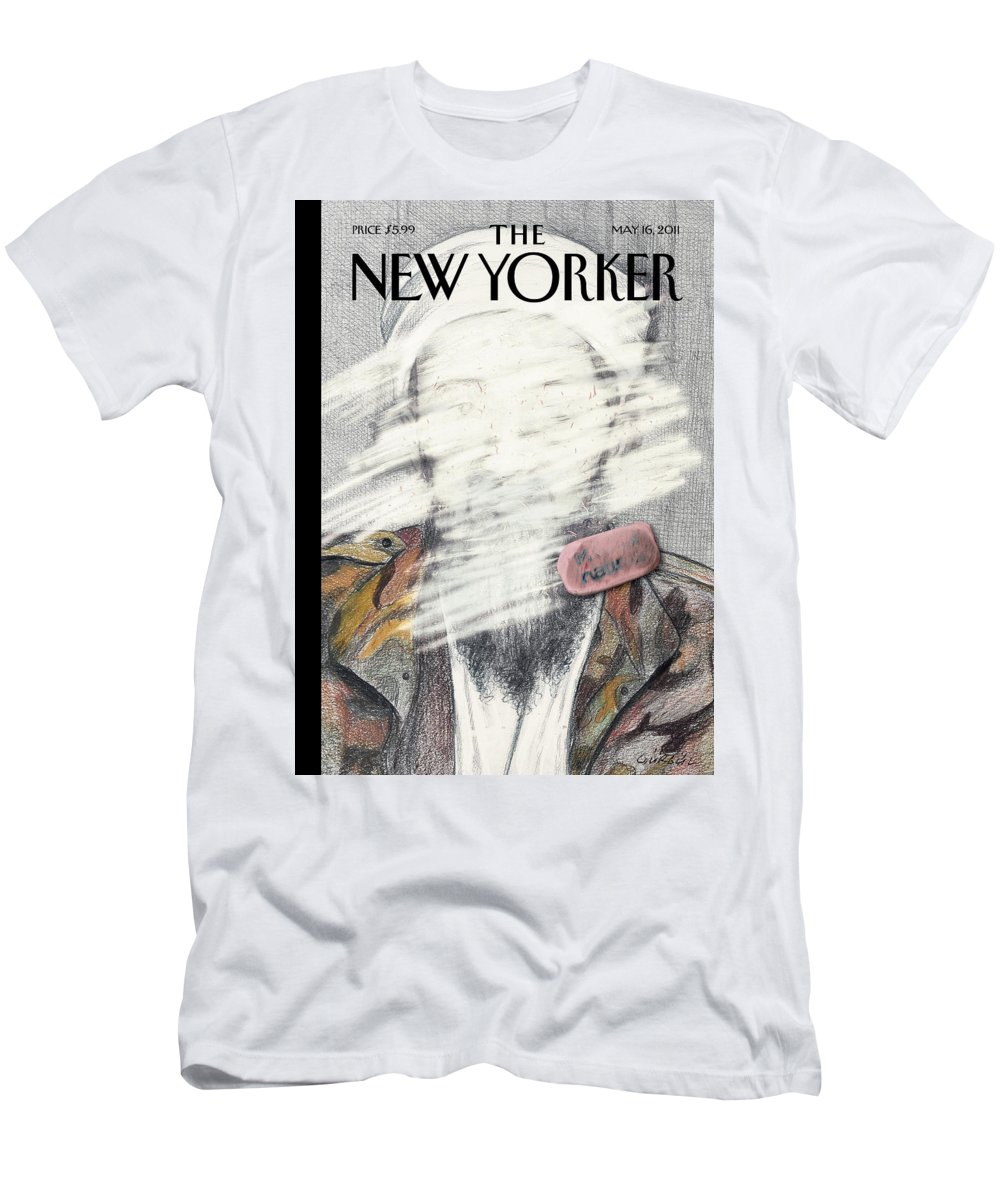 Osama Men's T-Shirt (Athletic Fit) featuring the painting New Yorker May 16th, 2011 by Gurbuz Dogan Eksioglu