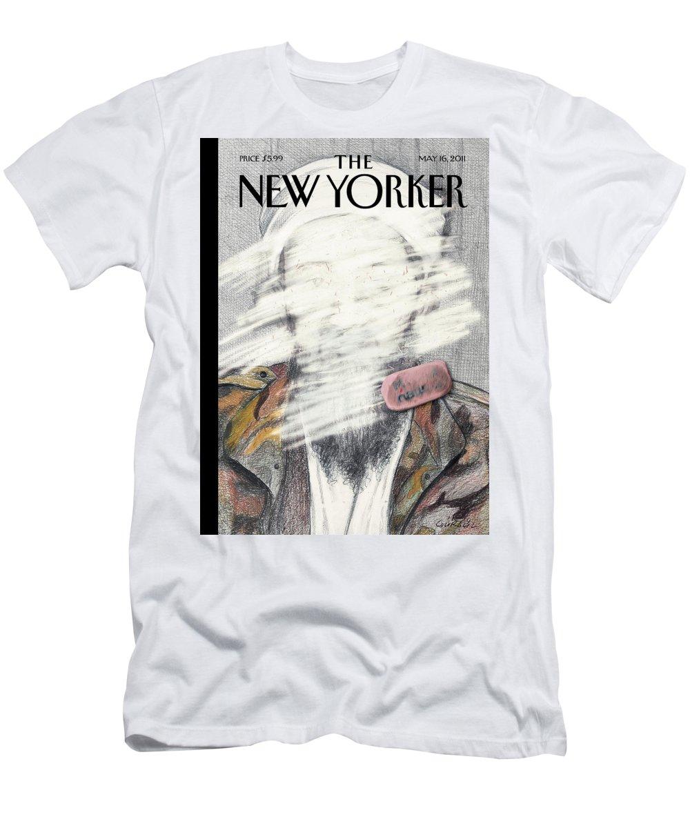 Osama T-Shirt featuring the painting New Yorker May 16th, 2011 by Gurbuz Dogan Eksioglu