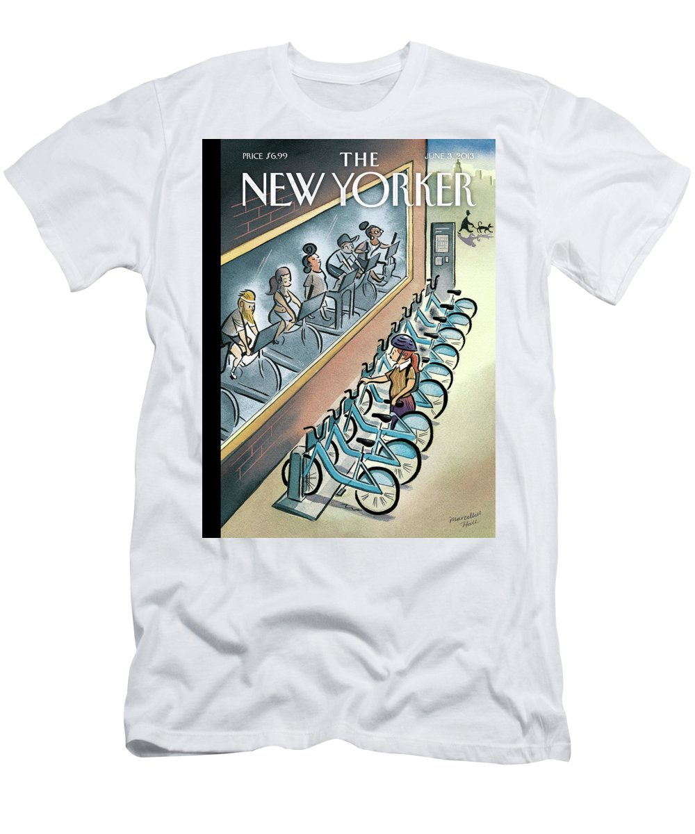 Workout T-Shirt featuring the painting New Yorker June 3, 2013 by Marcellus Hall