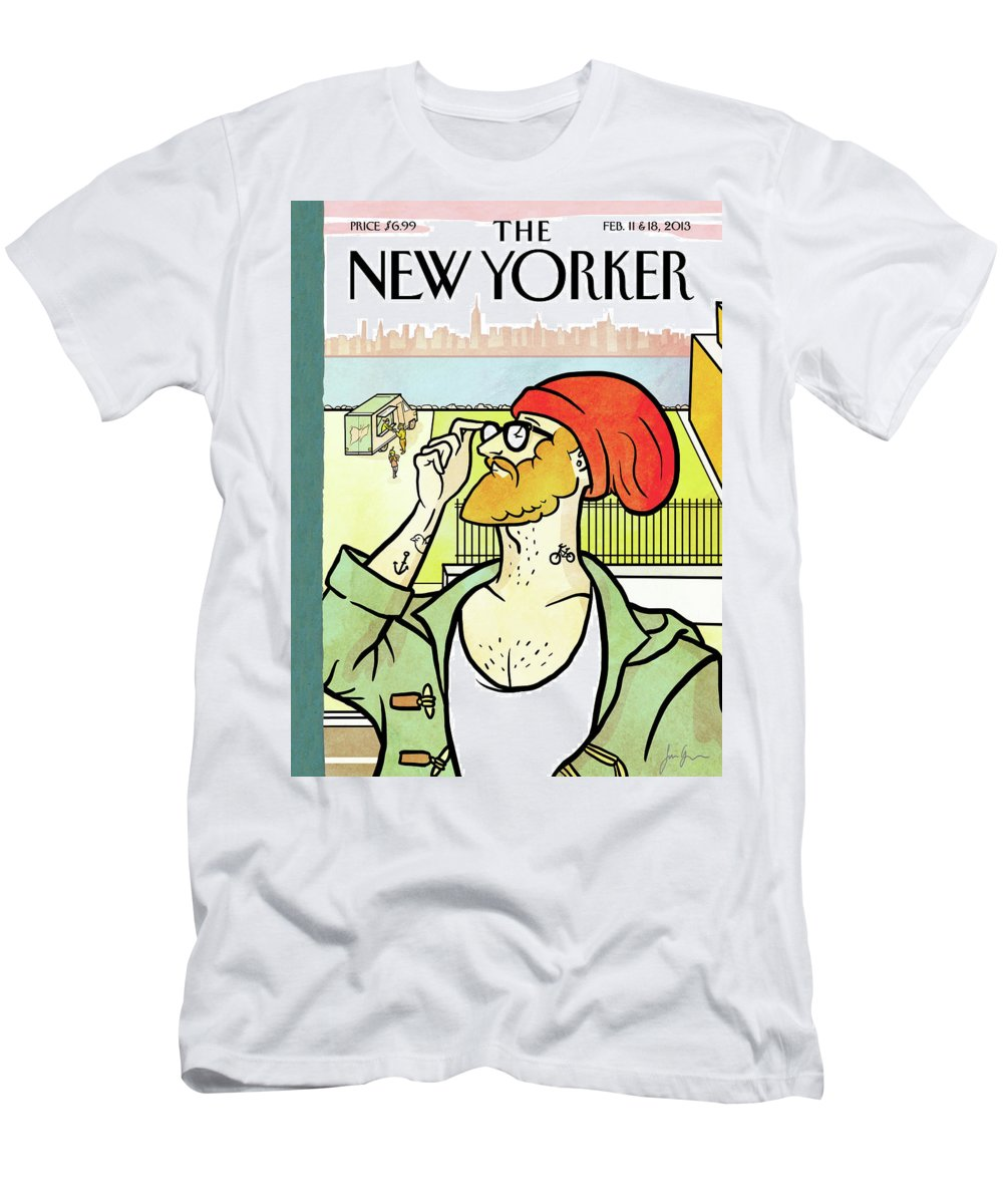 Brooklyn's Eustace T-Shirt featuring the painting Brooklyn's Eustace by Simon Greiner