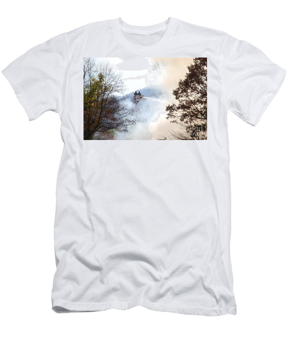 Fire T-Shirt featuring the photograph Up In Smoke by Eric Liller