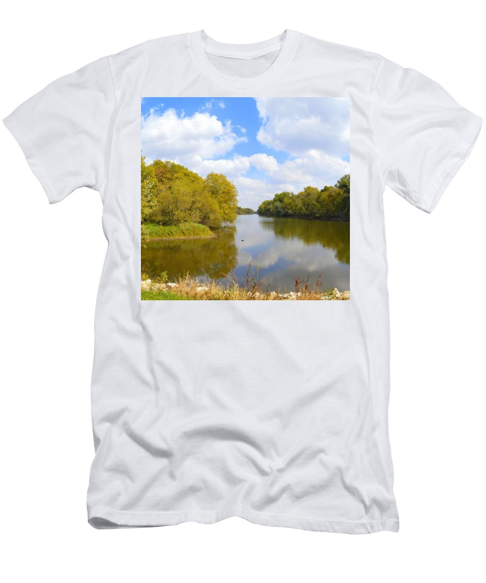 Environment Men's T-Shirt (Athletic Fit) featuring the photograph Upstream by Bonfire Photography