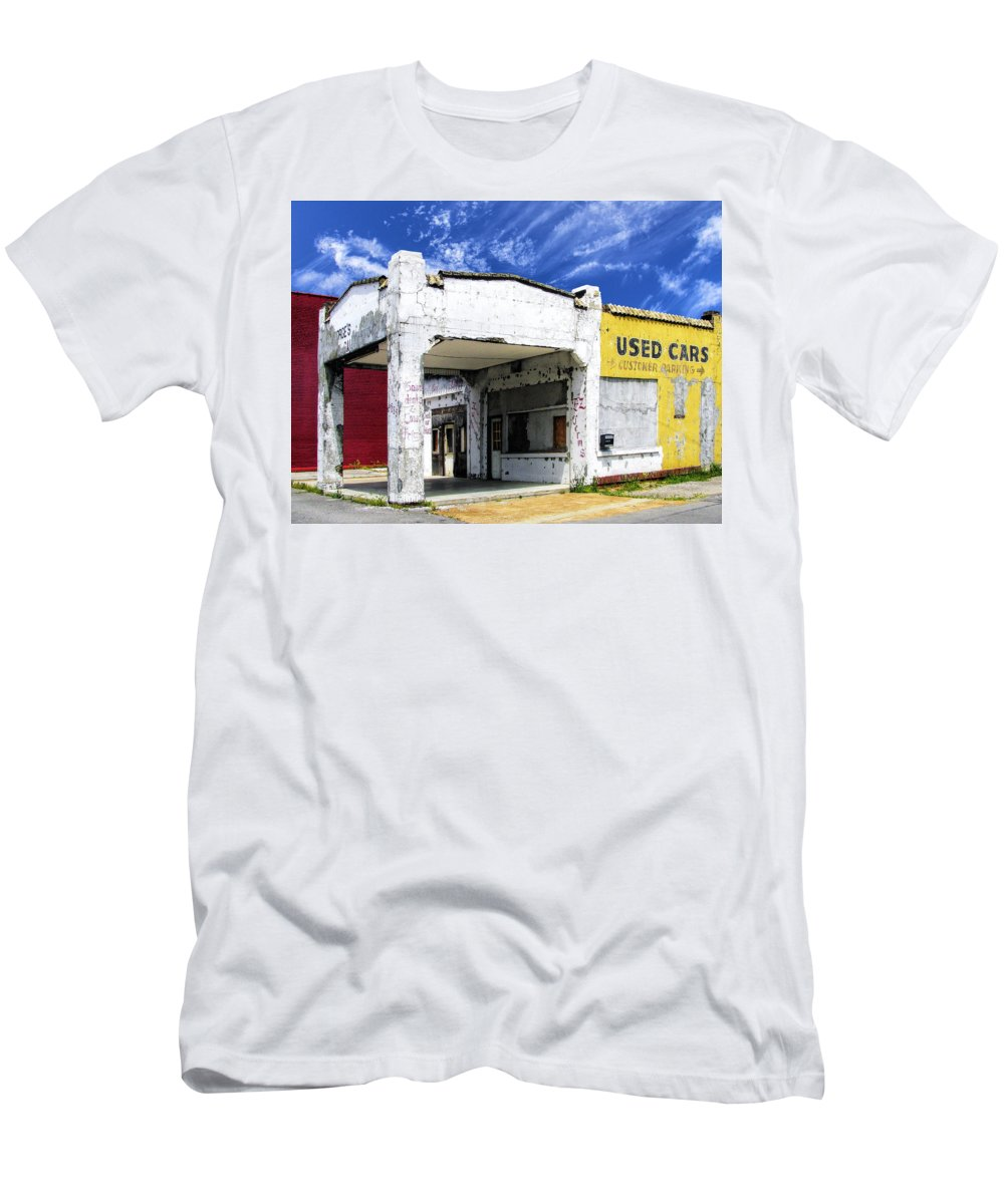 Used Cars Men's T-Shirt (Athletic Fit) featuring the photograph Used Cars by Dominic Piperata