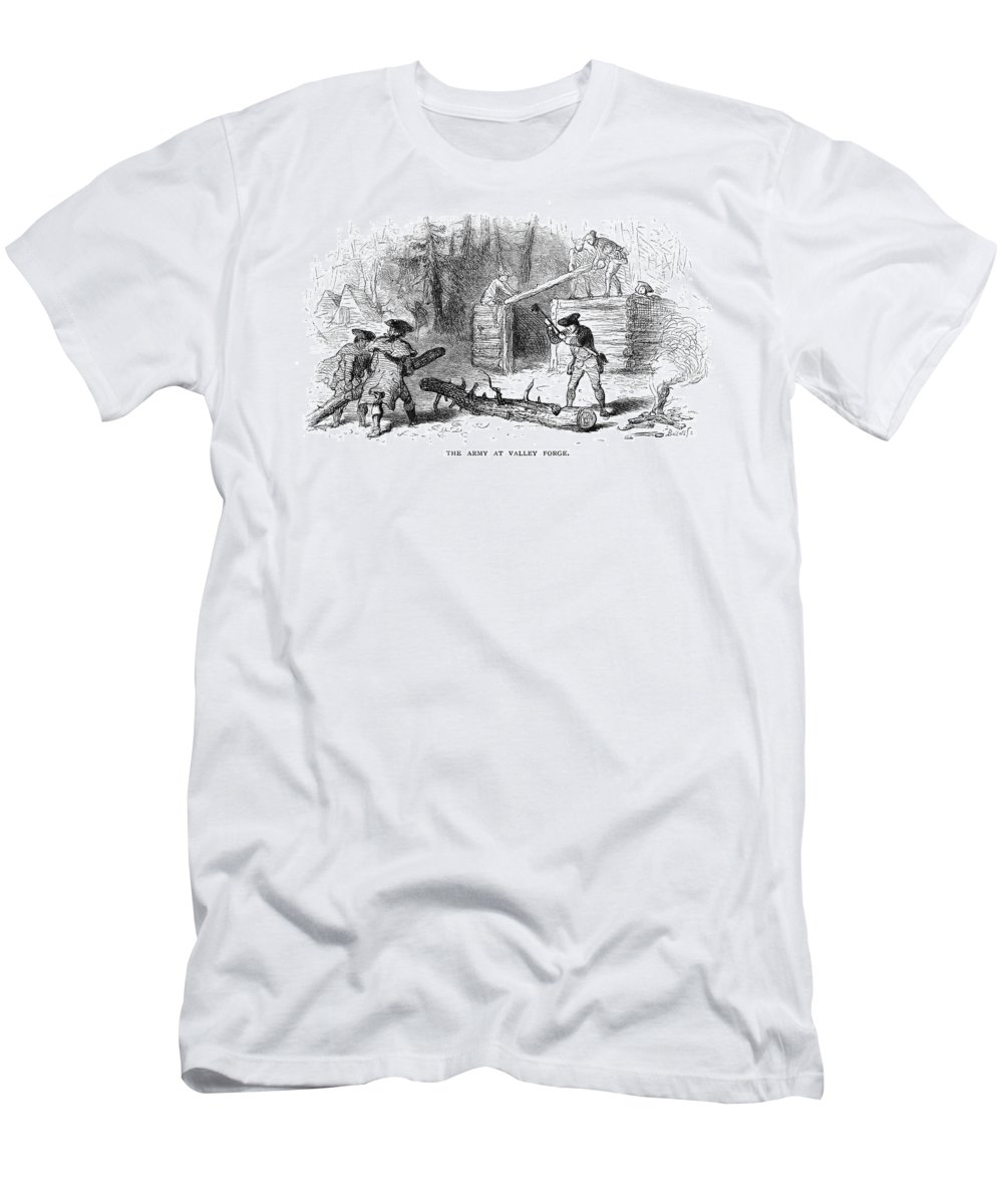 1777 Men's T-Shirt (Athletic Fit) featuring the photograph Valley Forge: Huts, 1777 by Granger