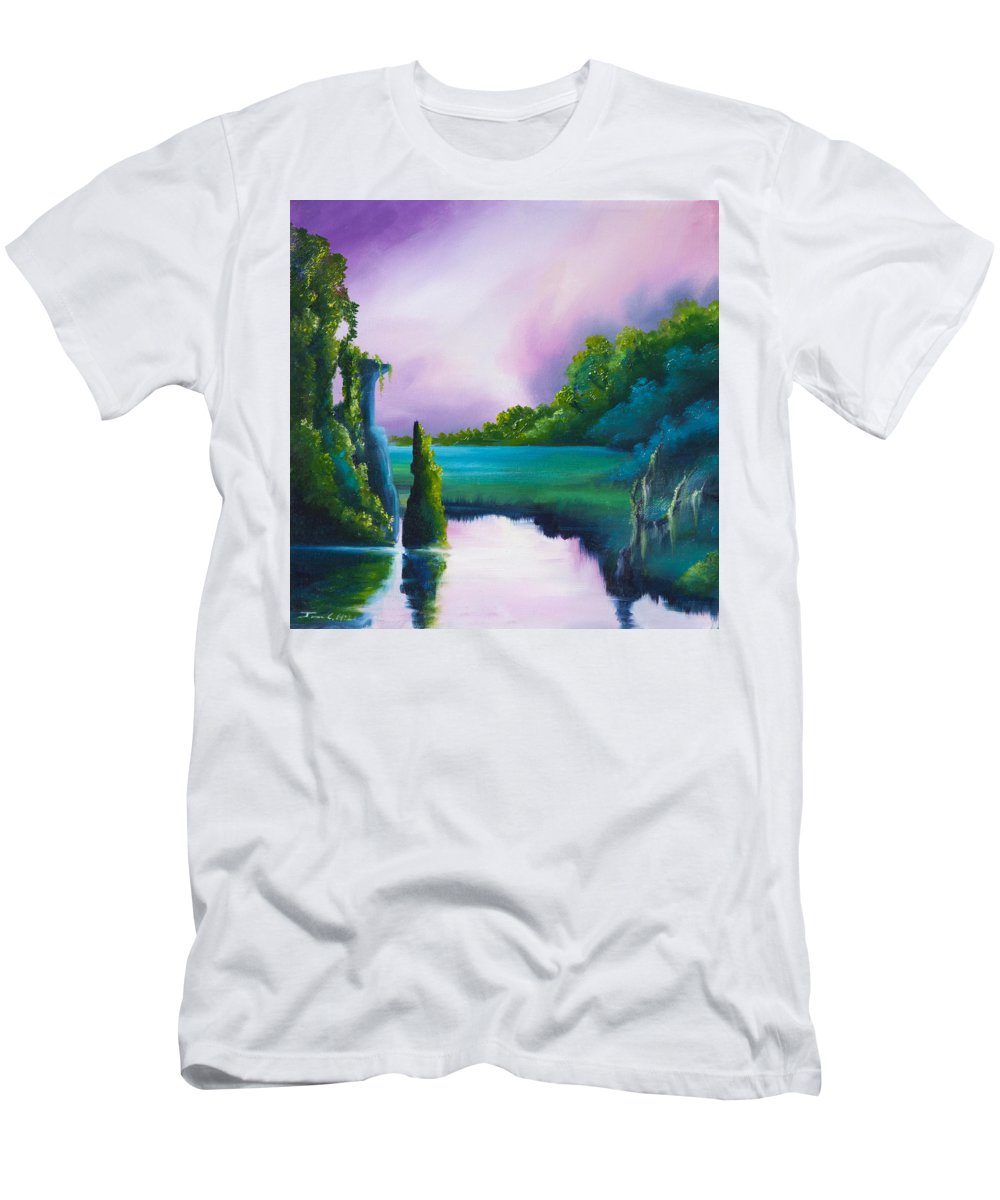 Sunrise T-Shirt featuring the painting Vasperaso by James Christopher Hill