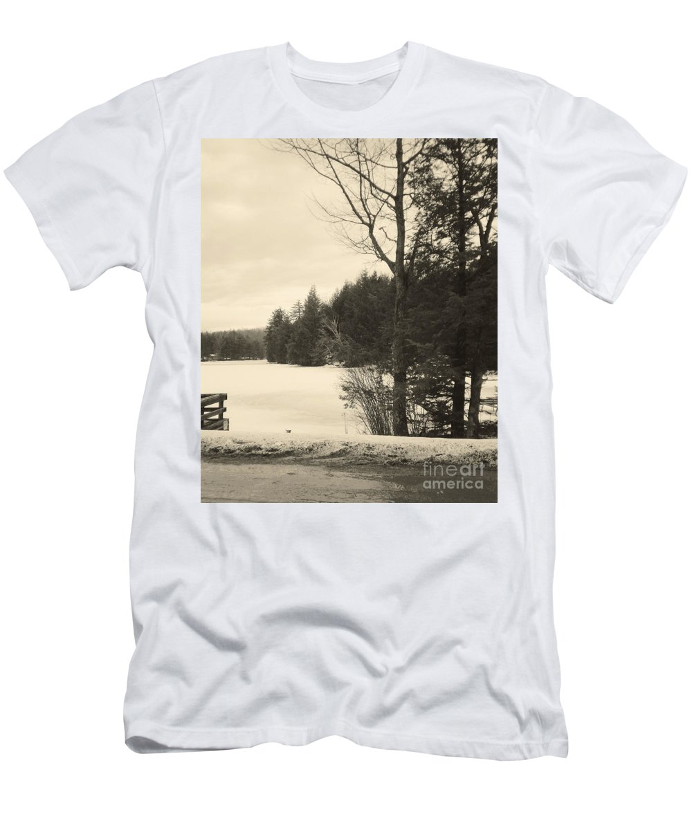 Vermont Men's T-Shirt (Athletic Fit) featuring the photograph Vermont Winterland by Christy Gendalia