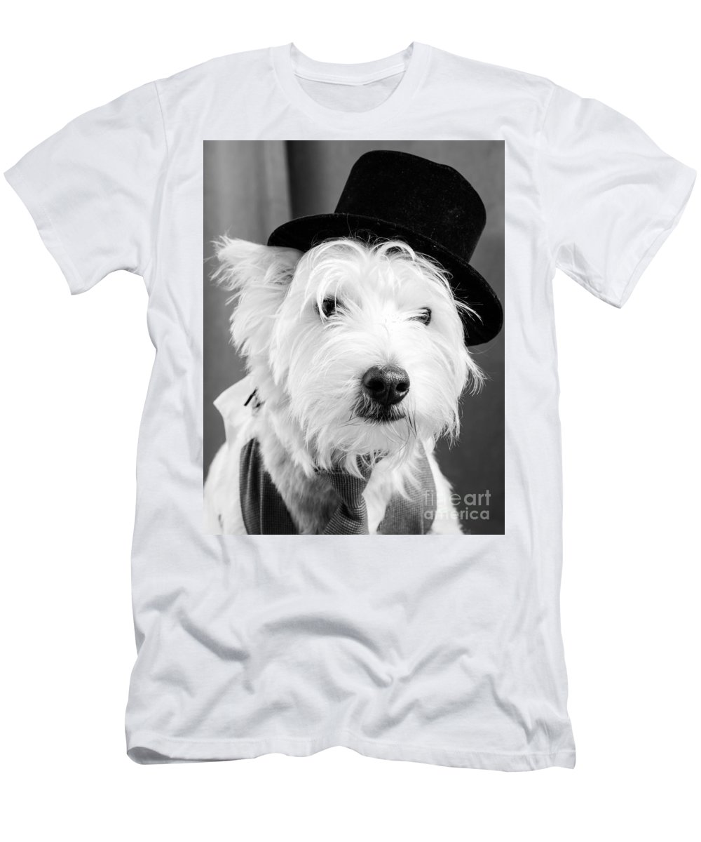 Actor Men's T-Shirt (Athletic Fit) featuring the photograph Veteran Vaudeville Stage Actor by Edward Fielding