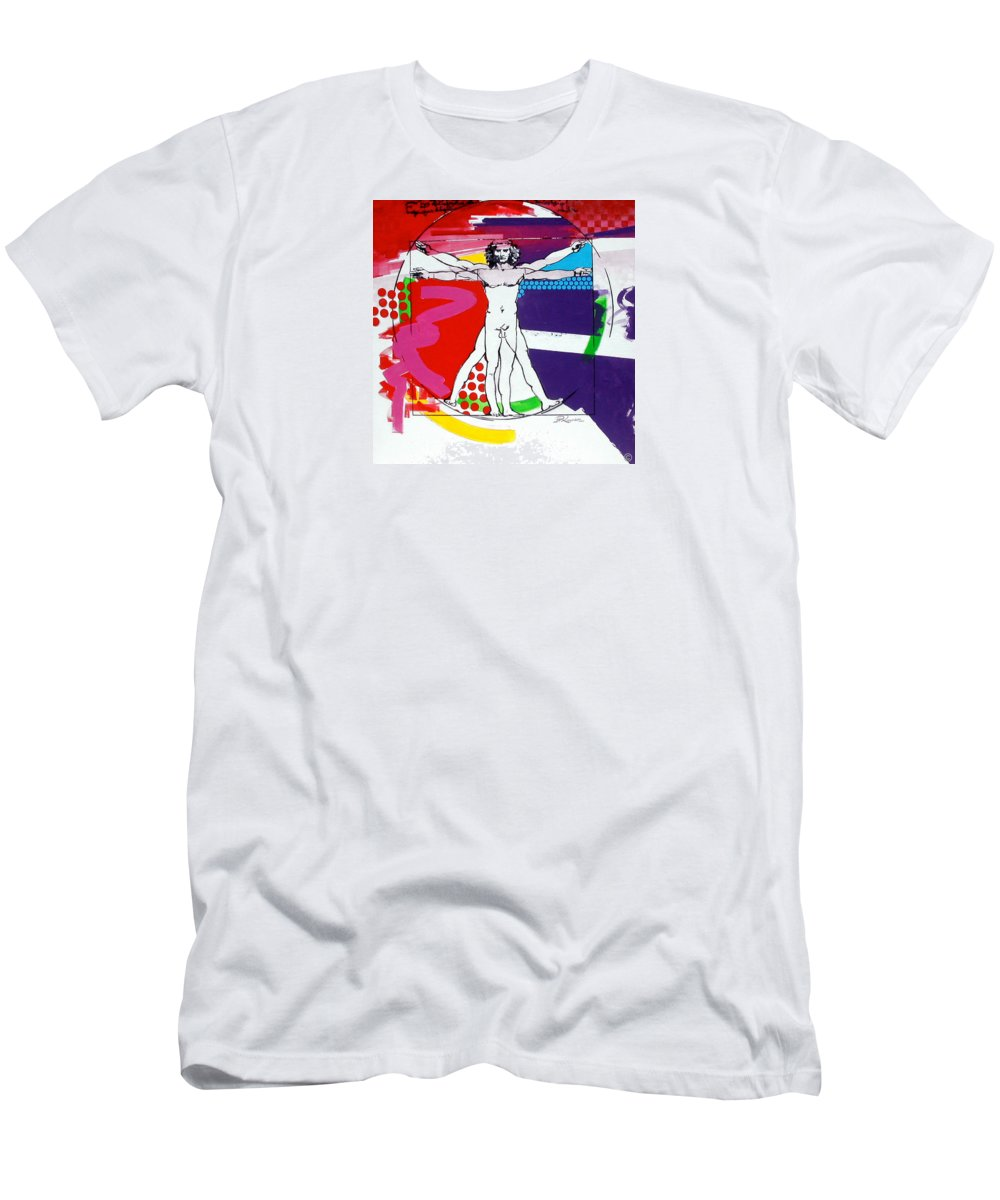 Classic Men's T-Shirt (Athletic Fit) featuring the painting Vetruvian by Jean Pierre Rousselet