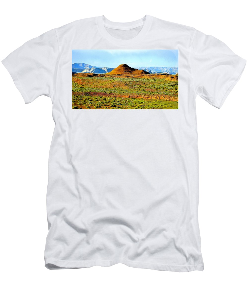 Landscape Men's T-Shirt (Athletic Fit) featuring the photograph View From Horseshoe Bend Overlook by Barbara Zahno