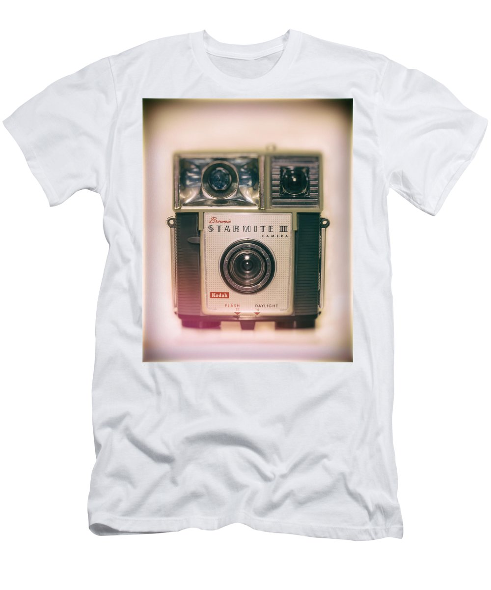 Brownie Men's T-Shirt (Athletic Fit) featuring the photograph Vintage Brownie Starmite Camera by Steve Stephenson