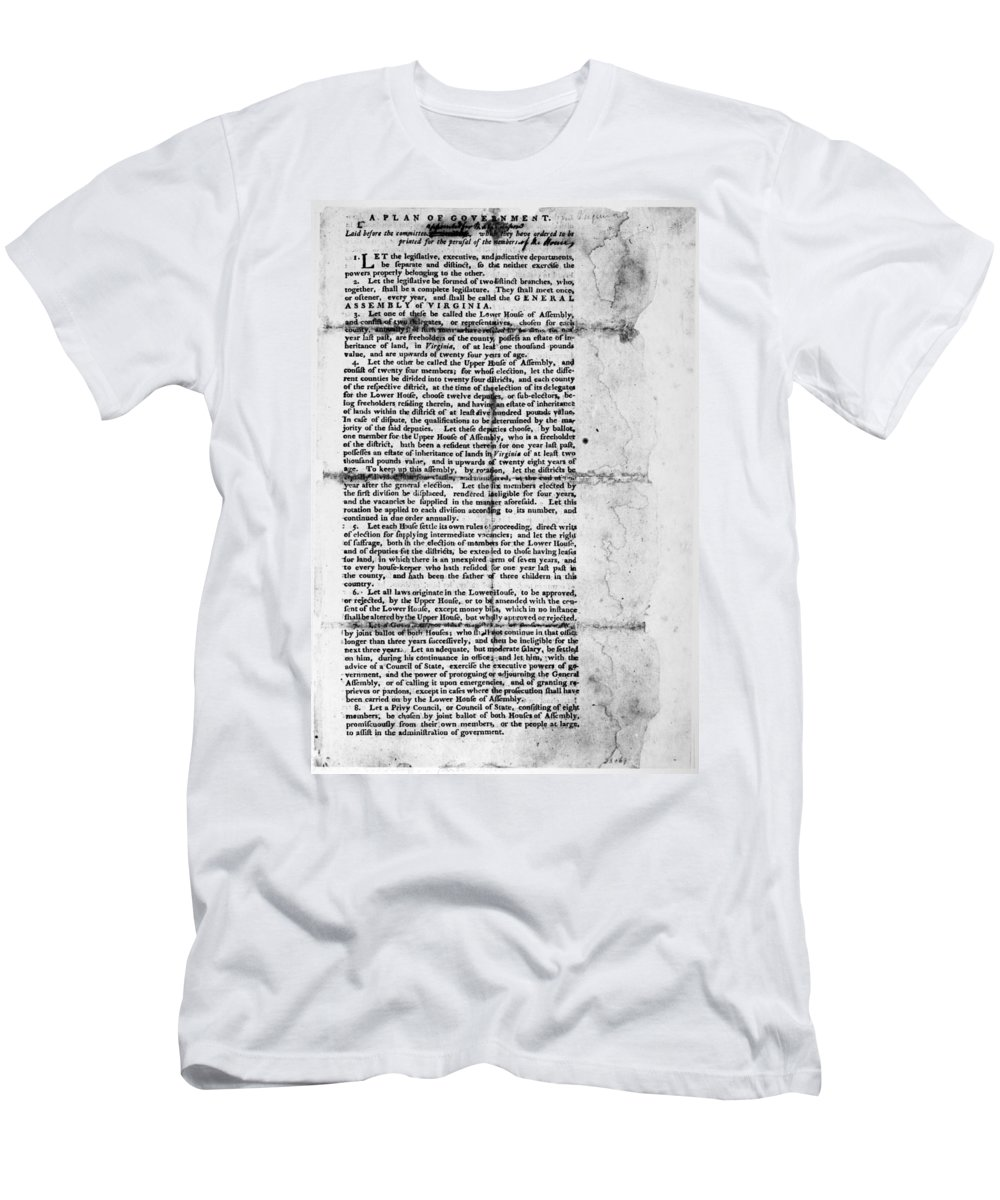 1776 Men's T-Shirt (Athletic Fit) featuring the photograph Virginia: Constitution by Granger