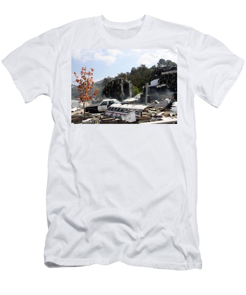 Universal Studios Men's T-Shirt (Athletic Fit) featuring the photograph War Of The World's by David Nicholls
