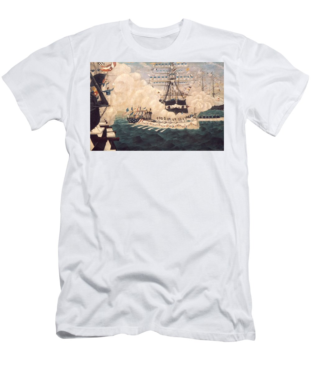1780s Men's T-Shirt (Athletic Fit) featuring the photograph Washington In New York by Granger