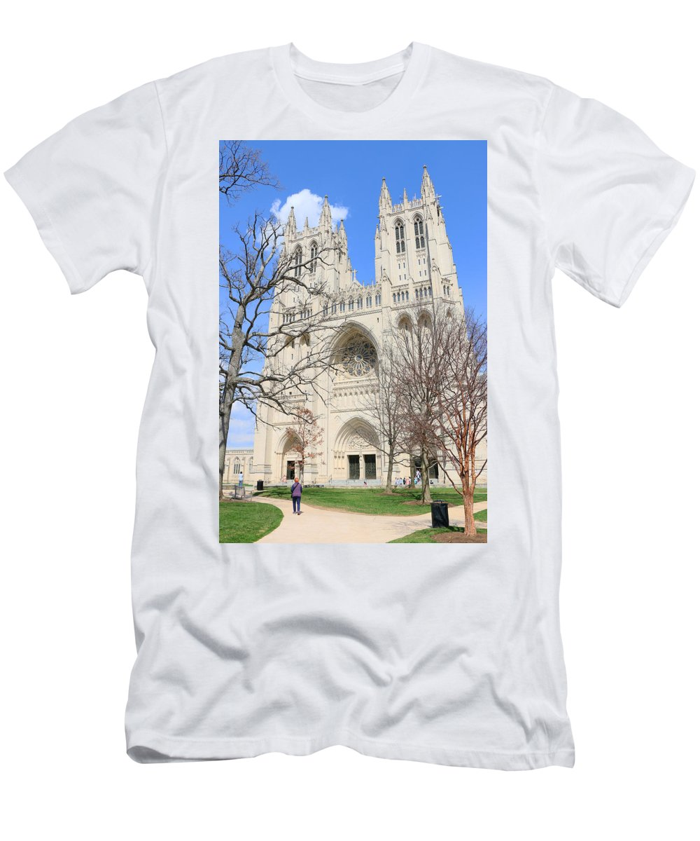 Washington National Cathedral Men's T-Shirt (Athletic Fit) featuring the photograph Washington National Cathedral by Allen Beatty