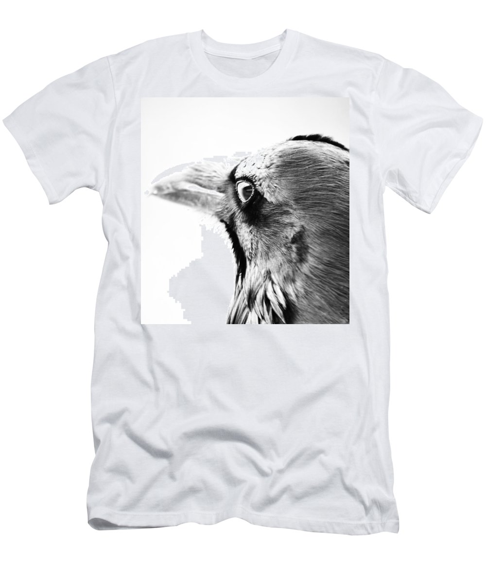 Crows Men's T-Shirt (Athletic Fit) featuring the photograph Watching The Night by The Artist Project