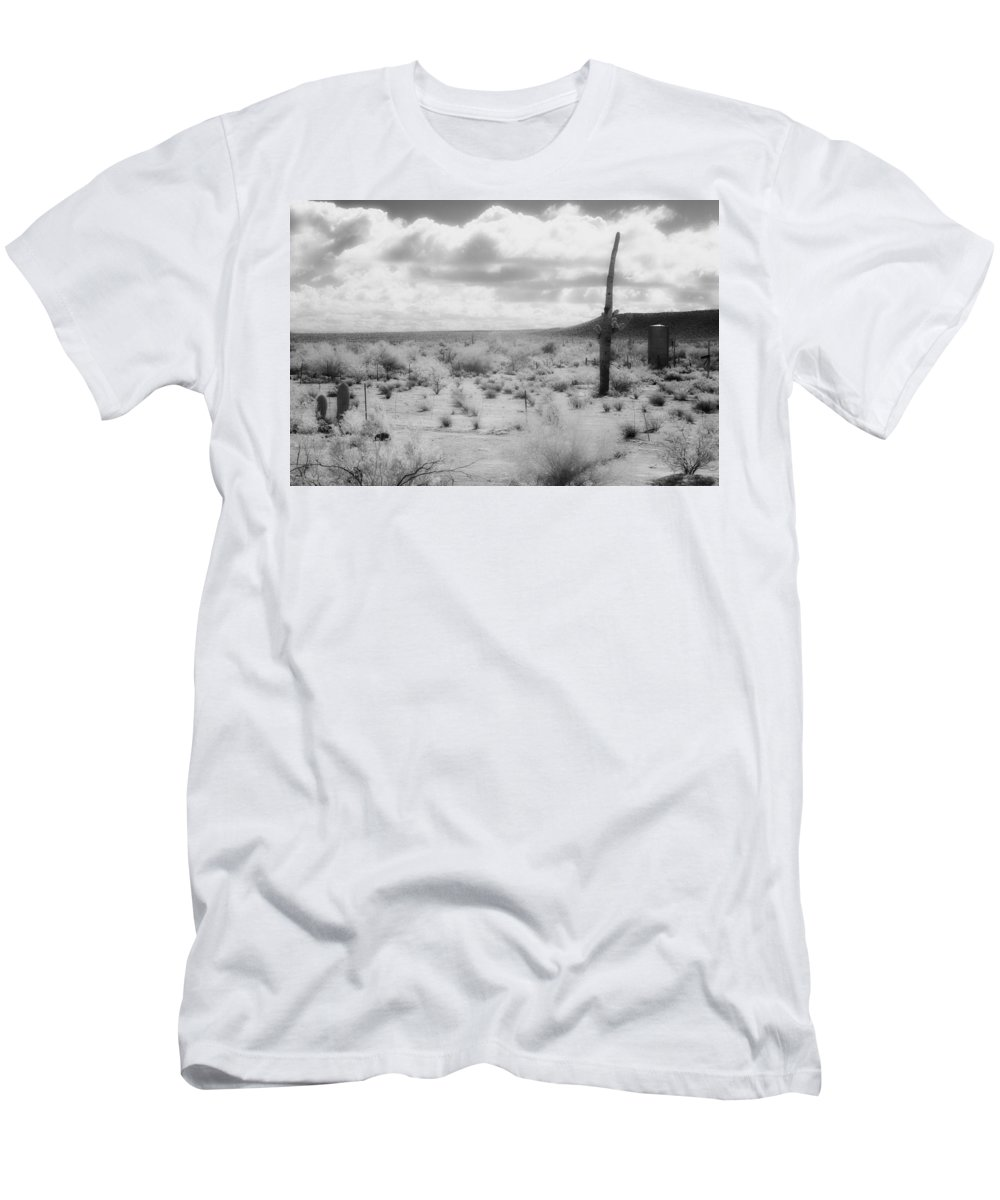 Water Men's T-Shirt (Athletic Fit) featuring the photograph Water Storage by Hugh Smith