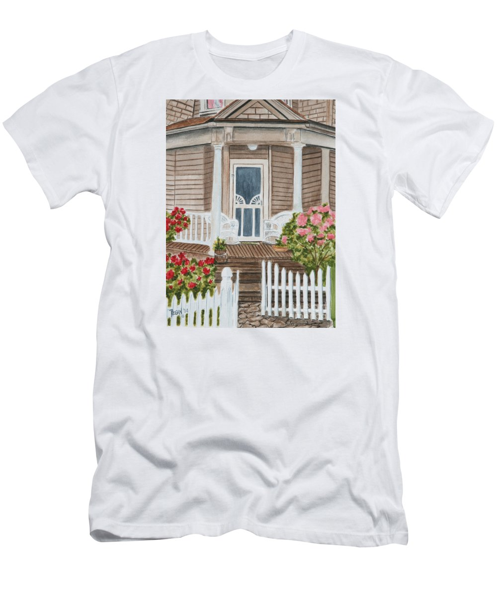 Architecture T-Shirt featuring the painting Welcome by Regan J Smith
