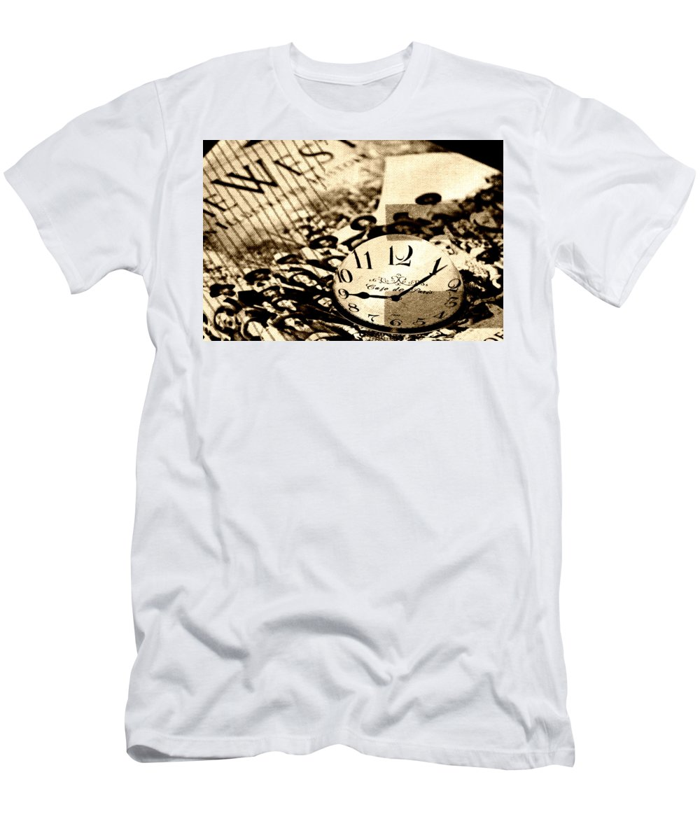 Western Time Men's T-Shirt (Athletic Fit) featuring the photograph Western Time by Chastity Hoff