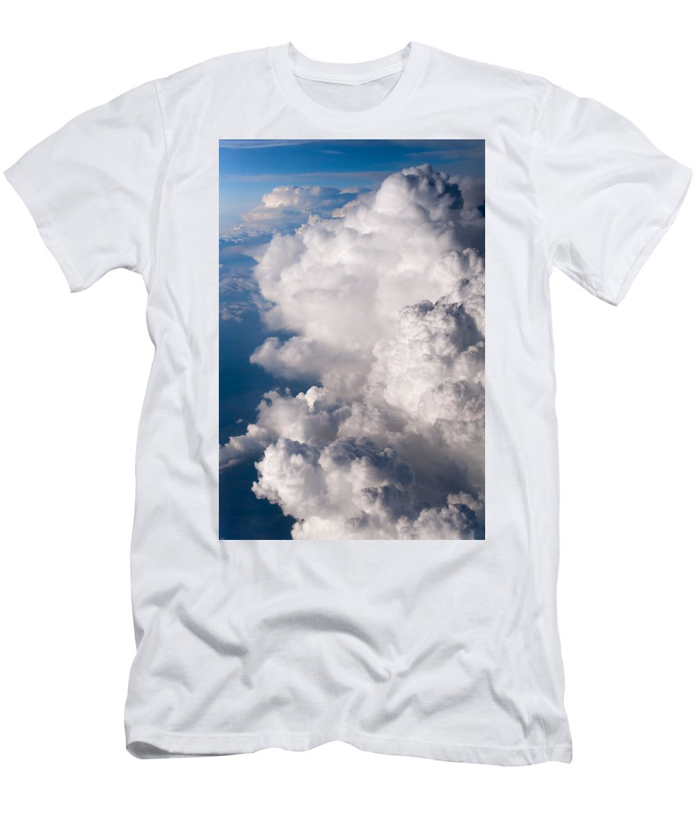 Aerial.clouds Men's T-Shirt (Athletic Fit) featuring the photograph When The Dreams Coming True 2 by Jenny Rainbow