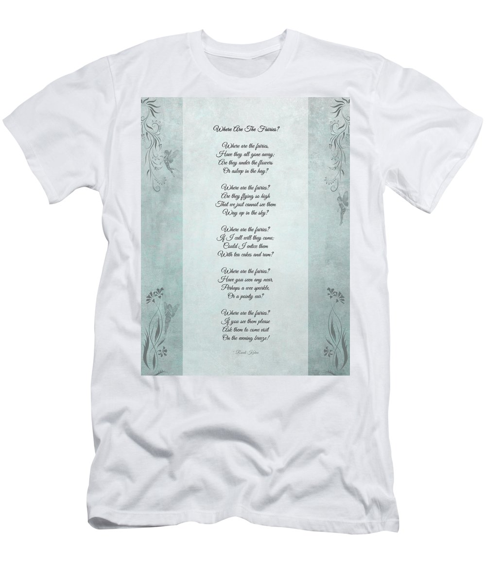 Fairy Poem Men's T-Shirt (Athletic Fit) featuring the photograph Where Are The Fairies by Randi Kuhne