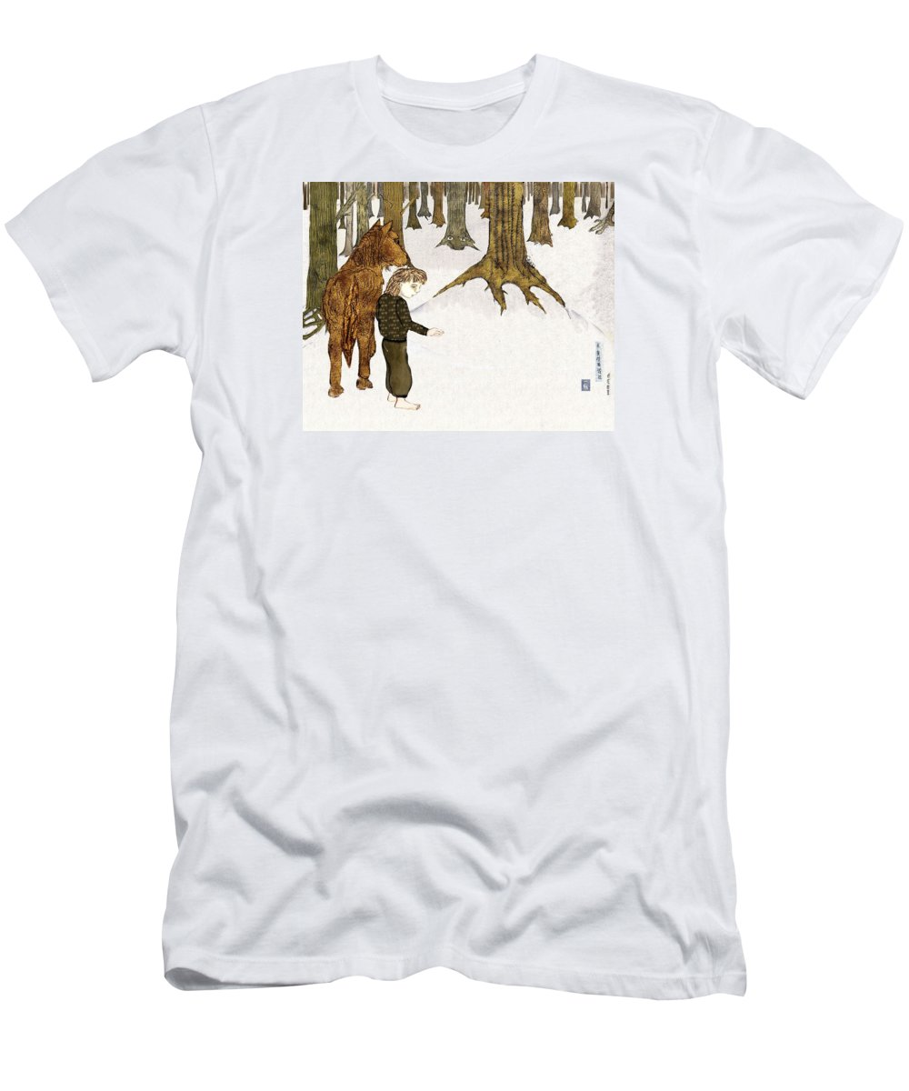 Trees Men's T-Shirt (Athletic Fit) featuring the mixed media Where Are You by Cynthia Richards