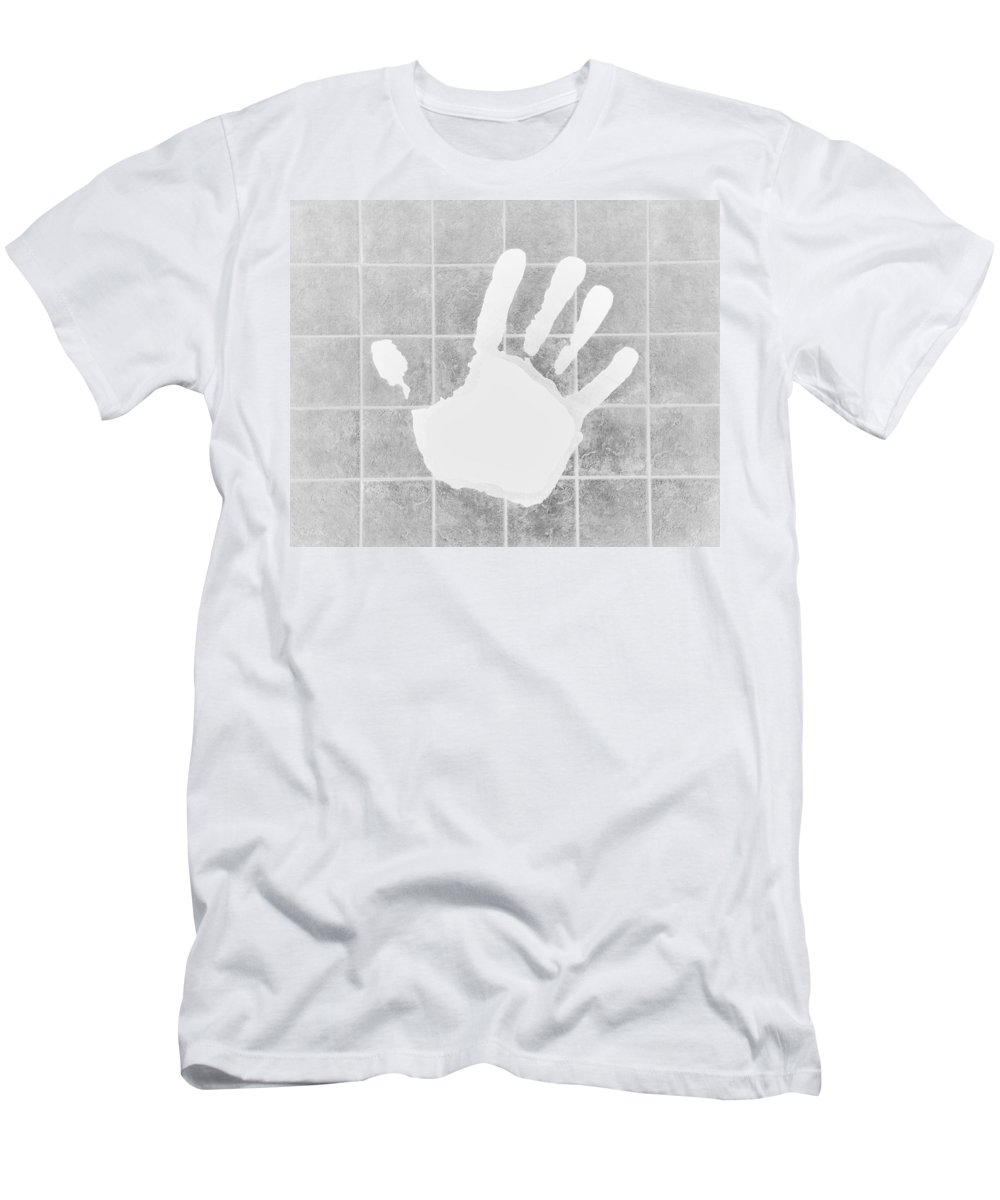 Hand Men's T-Shirt (Athletic Fit) featuring the photograph White Hand White by Rob Hans