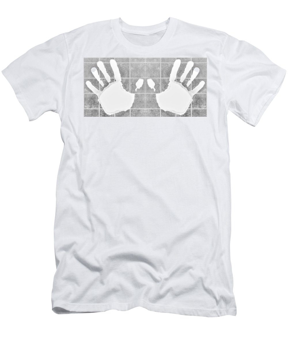 Hand Men's T-Shirt (Athletic Fit) featuring the photograph White Hands White by Rob Hans