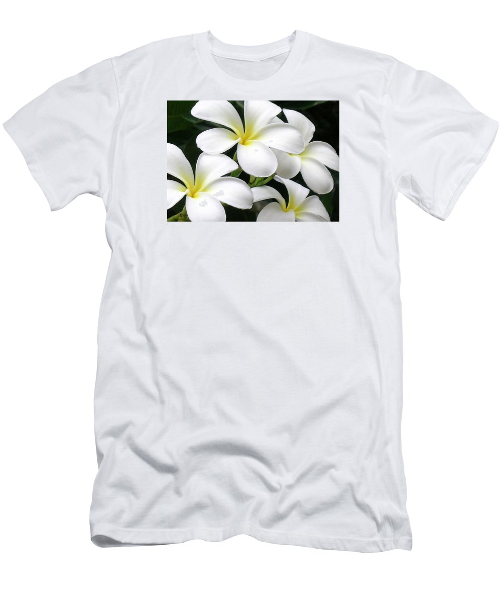 Hawaii Iphone Cases T-Shirt featuring the photograph White Plumeria by James Temple