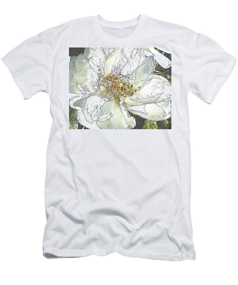 Rose T-Shirt featuring the photograph White Rose Abstract by Jeanne A Martin