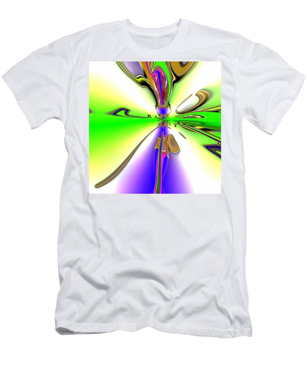Green Men's T-Shirt (Athletic Fit) featuring the digital art Wigvux by John Holfinger