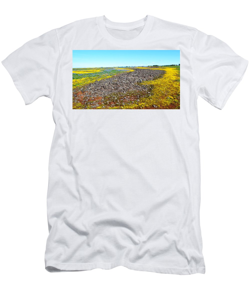 Wildflowers Men's T-Shirt (Athletic Fit) featuring the photograph Wildflowers by Holly Blunkall