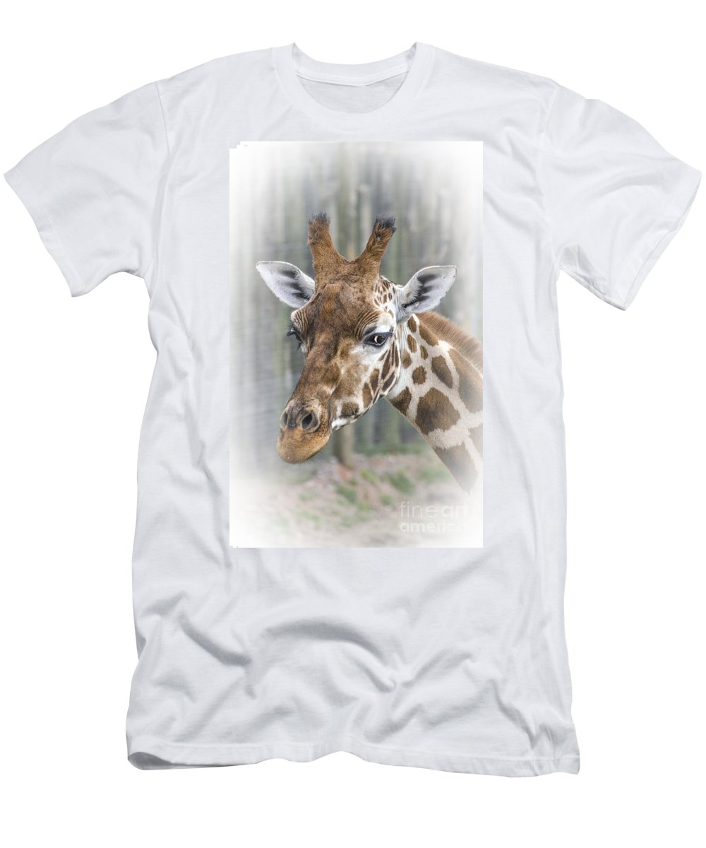 Wildlife Men's T-Shirt (Athletic Fit) featuring the photograph Wildlife Giraffe by Linsey Williams