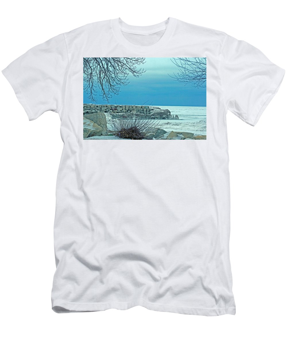 Winter Men's T-Shirt (Athletic Fit) featuring the photograph Winter Blues by Kay Novy