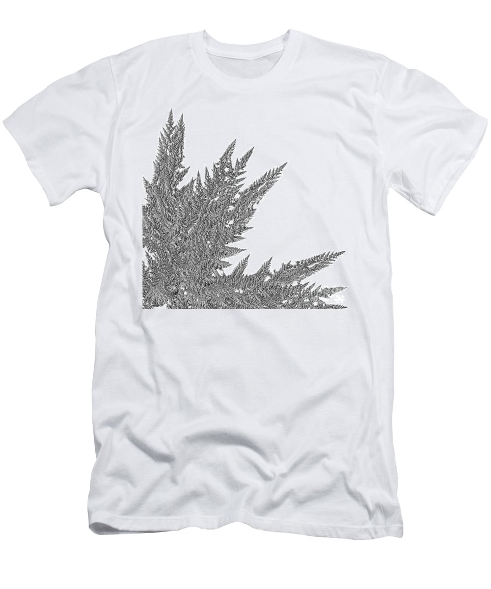 First Star Art Men's T-Shirt (Athletic Fit) featuring the digital art Winter Branches By Jammer by First Star Art