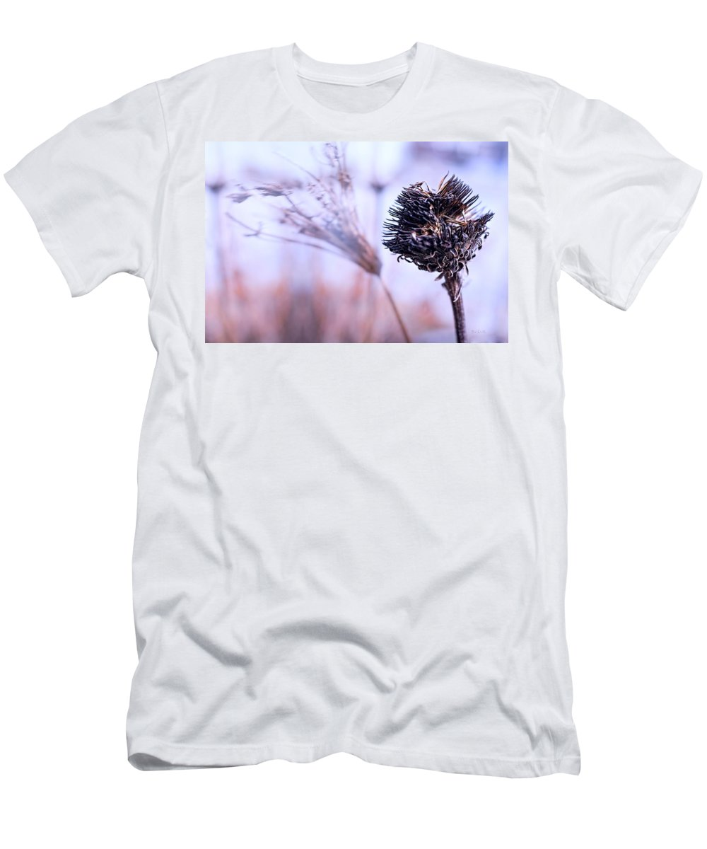 Flowers Men's T-Shirt (Athletic Fit) featuring the photograph Winter Flowers by Bob Orsillo